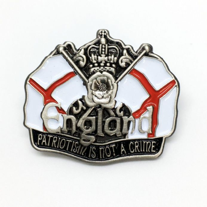 England Badge - Patriotism Is Not A Crime
